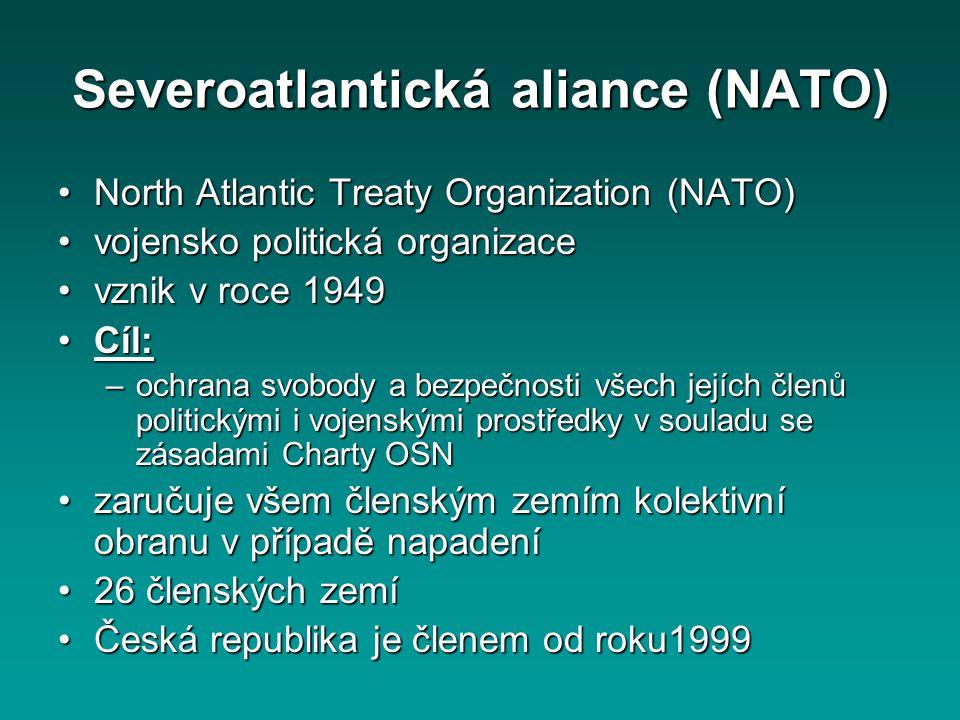 Severoatlantická aliance (NATO)