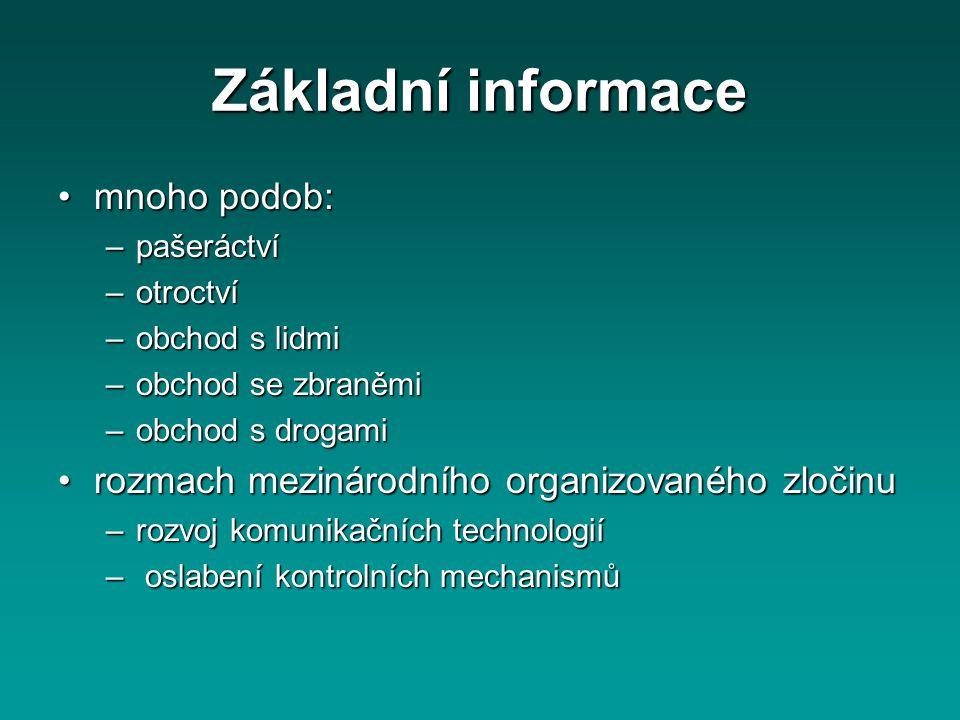 Základní informace mnoho podob: