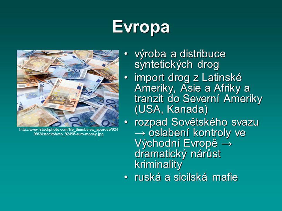 Evropa výroba a distribuce syntetických drog