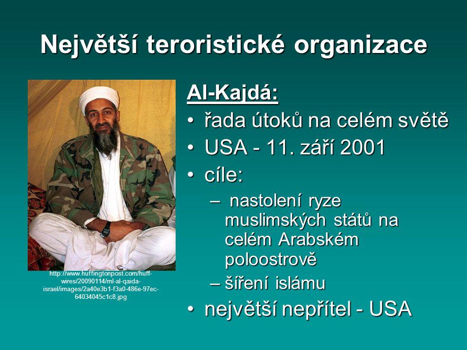 Největší teroristické organizace