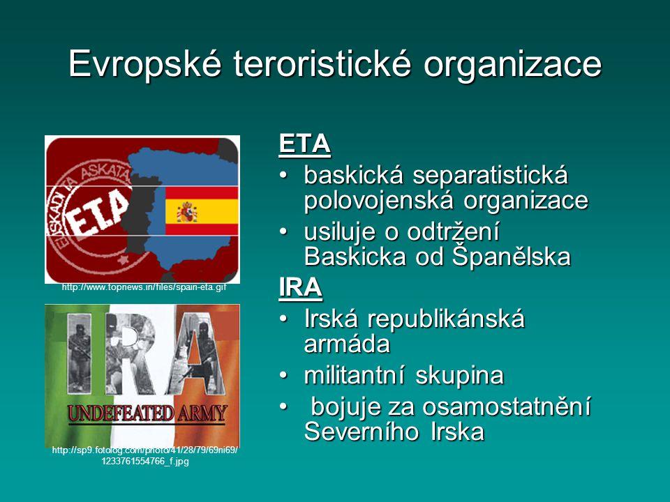 Evropské teroristické organizace