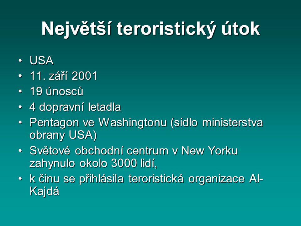 Největší teroristický útok
