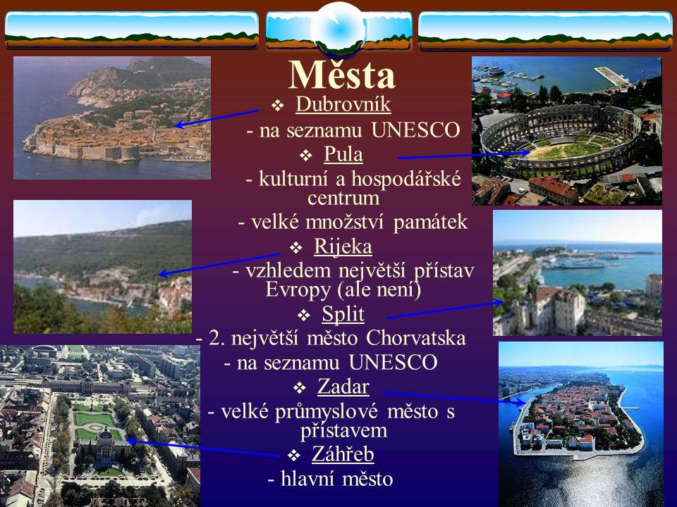 Města Dubrovník - na seznamu UNESCO Pula