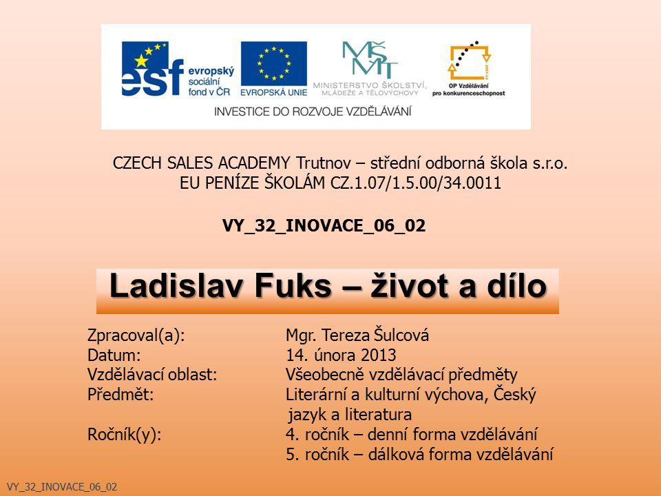 Ladislav Fuks – život a dílo