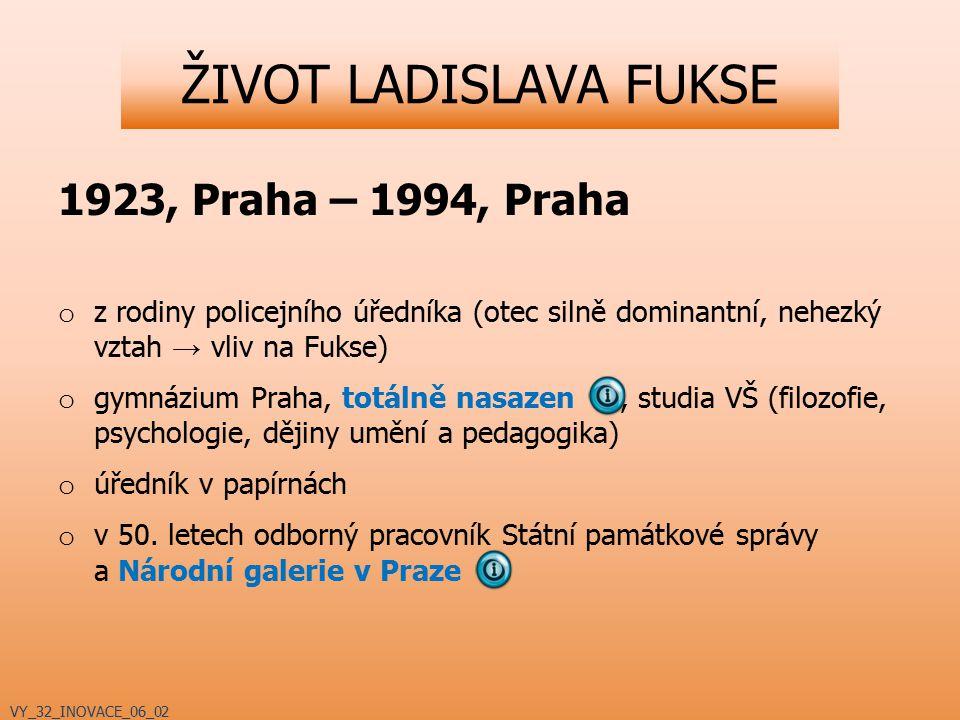 ŽIVOT LADISLAVA FUKSE 1923, Praha – 1994, Praha