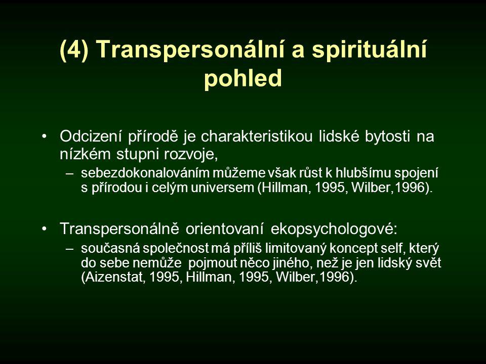 (4) Transpersonální a spirituální pohled