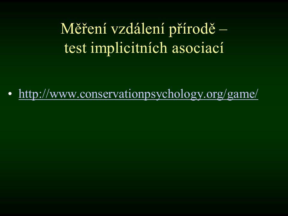 Měření vzdálení přírodě – test implicitních asociací