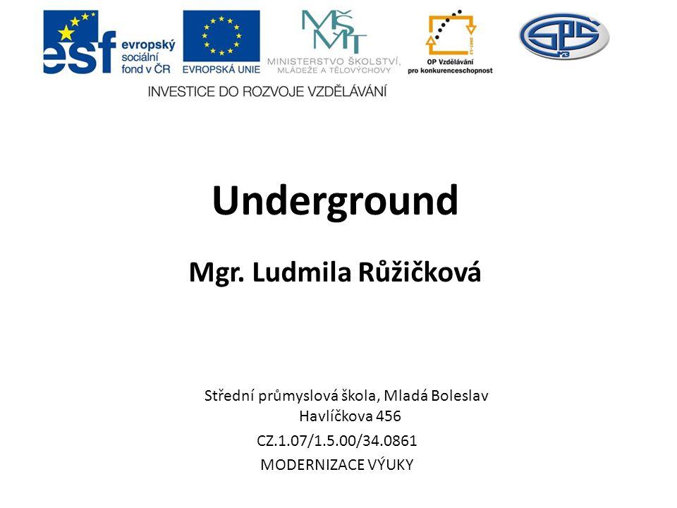 Underground Mgr. Ludmila Růžičková
