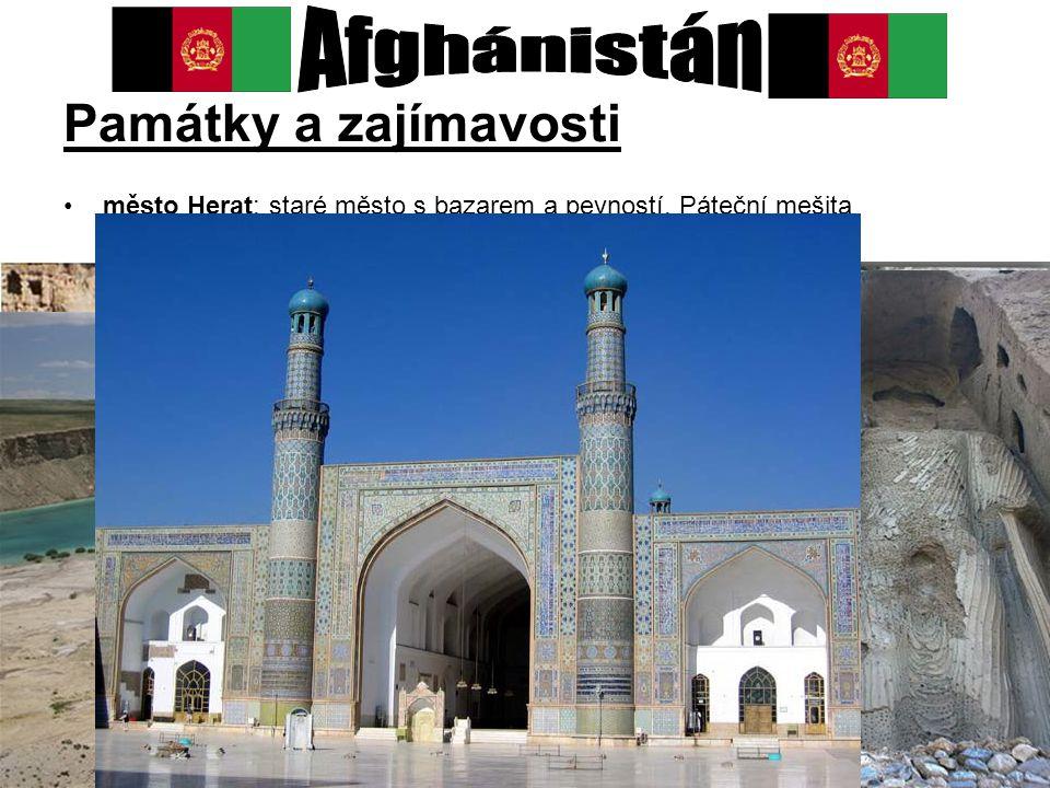 Afghánistán Památky a zajímavosti