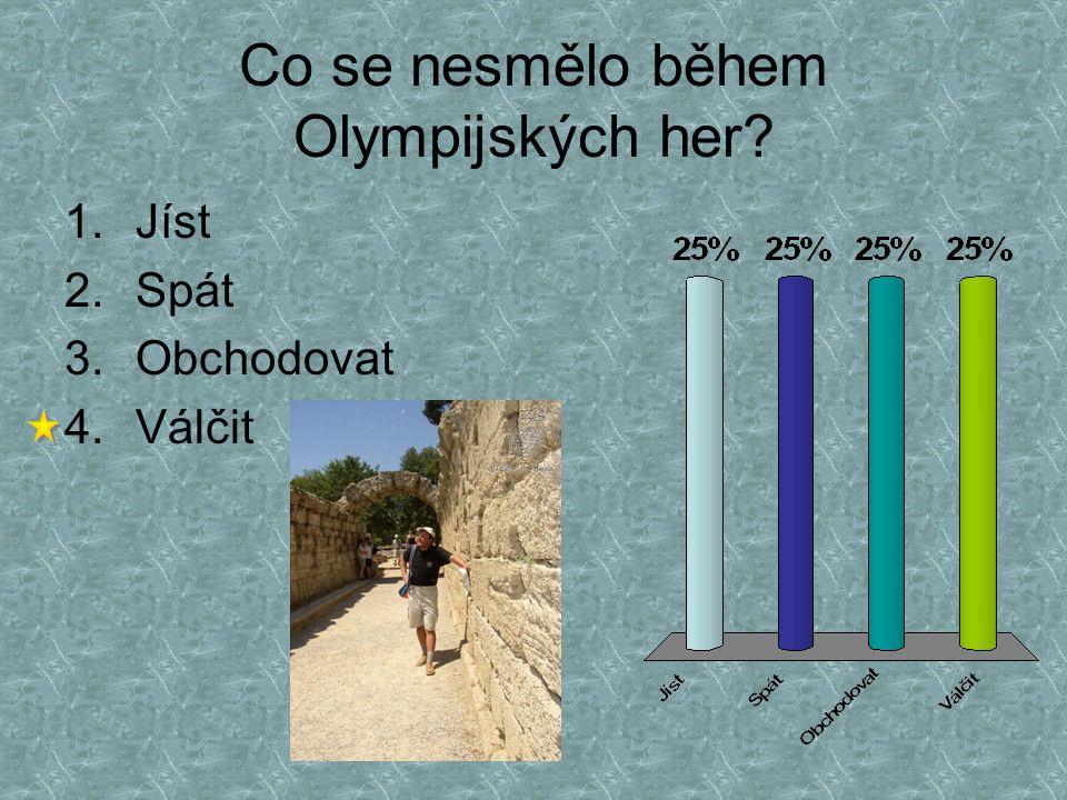 Co se nesmělo během Olympijských her