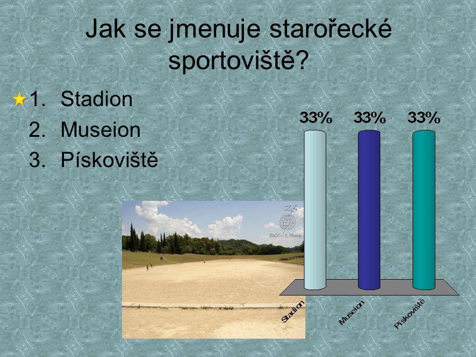 Jak se jmenuje starořecké sportoviště