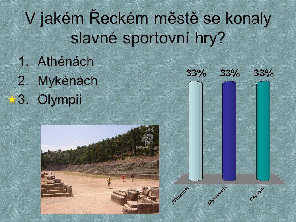 V jakém Řeckém městě se konaly slavné sportovní hry