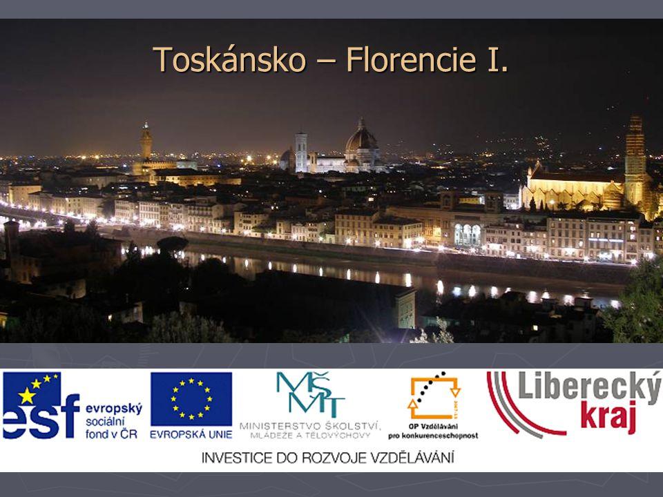Toskánsko – Florencie I.