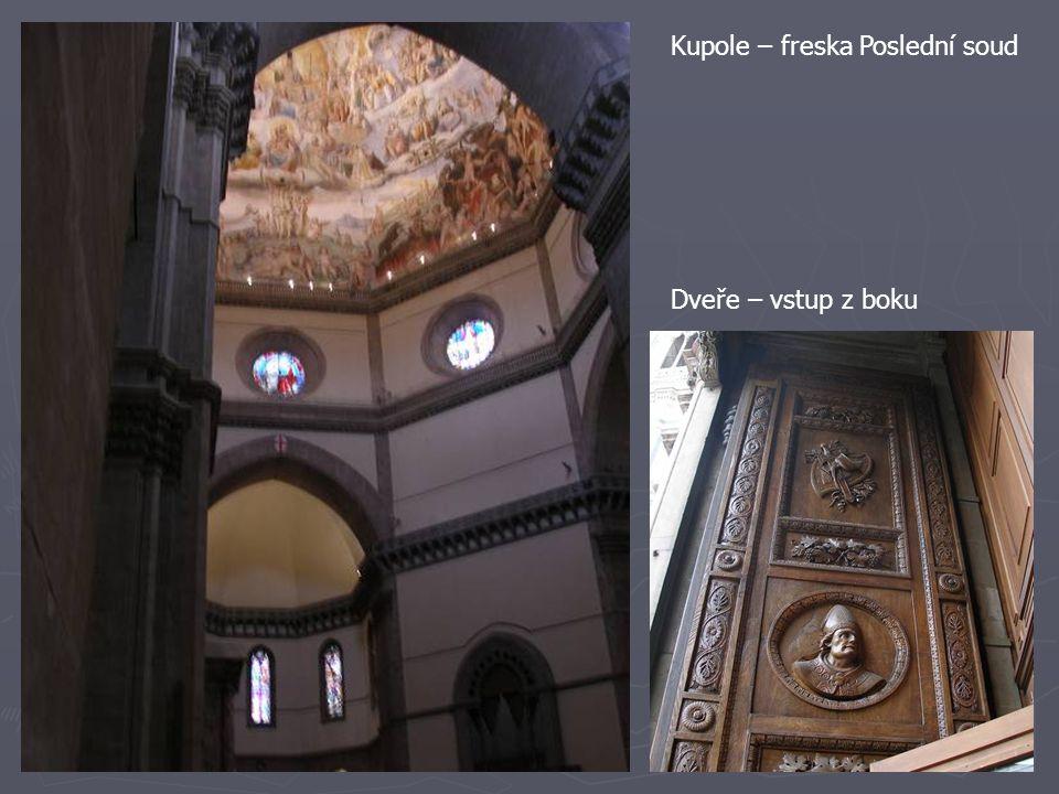Kupole – freska Poslední soud