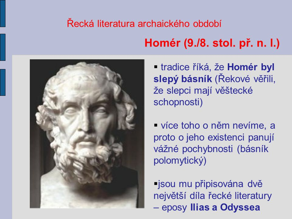 Řecká literatura archaického období