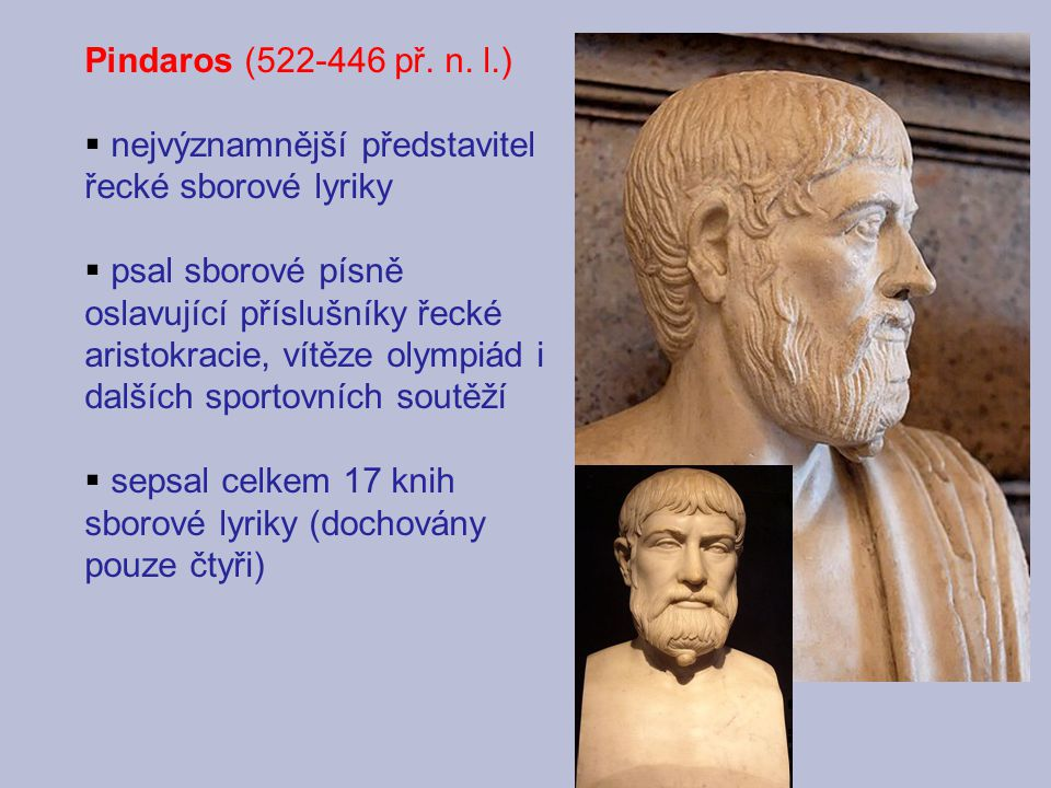 nejvýznamnější představitel řecké sborové lyriky