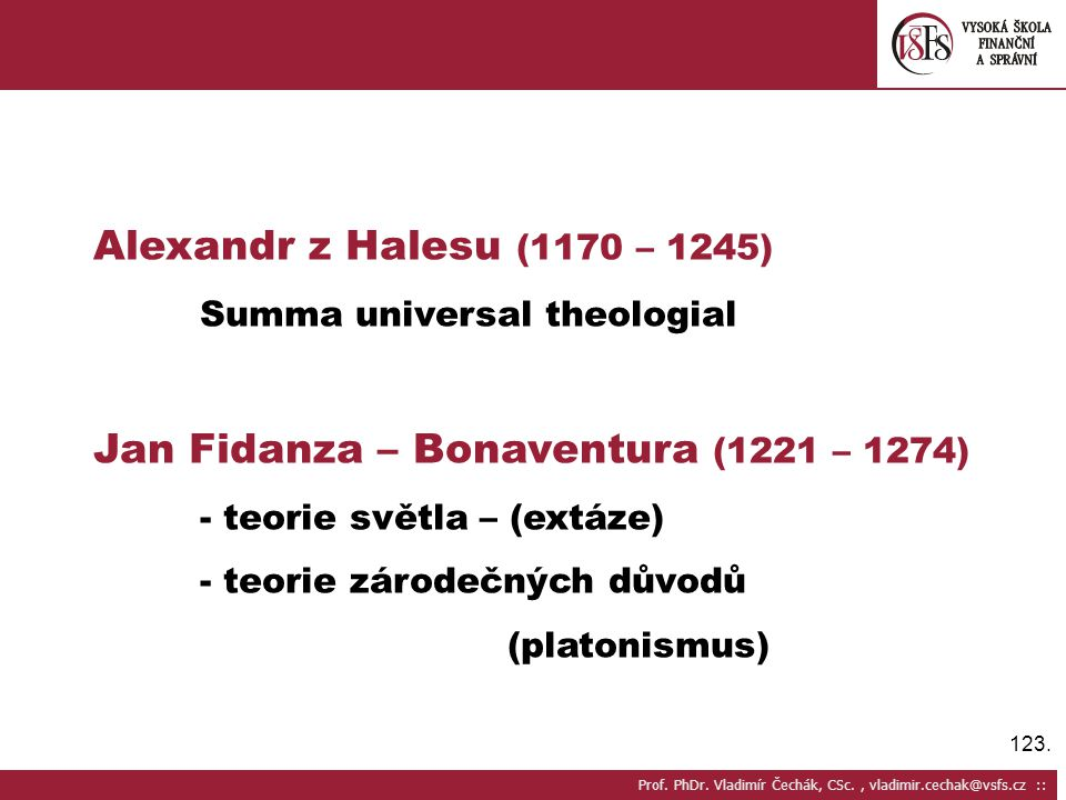 Jan Fidanza – Bonaventura (1221 – 1274)