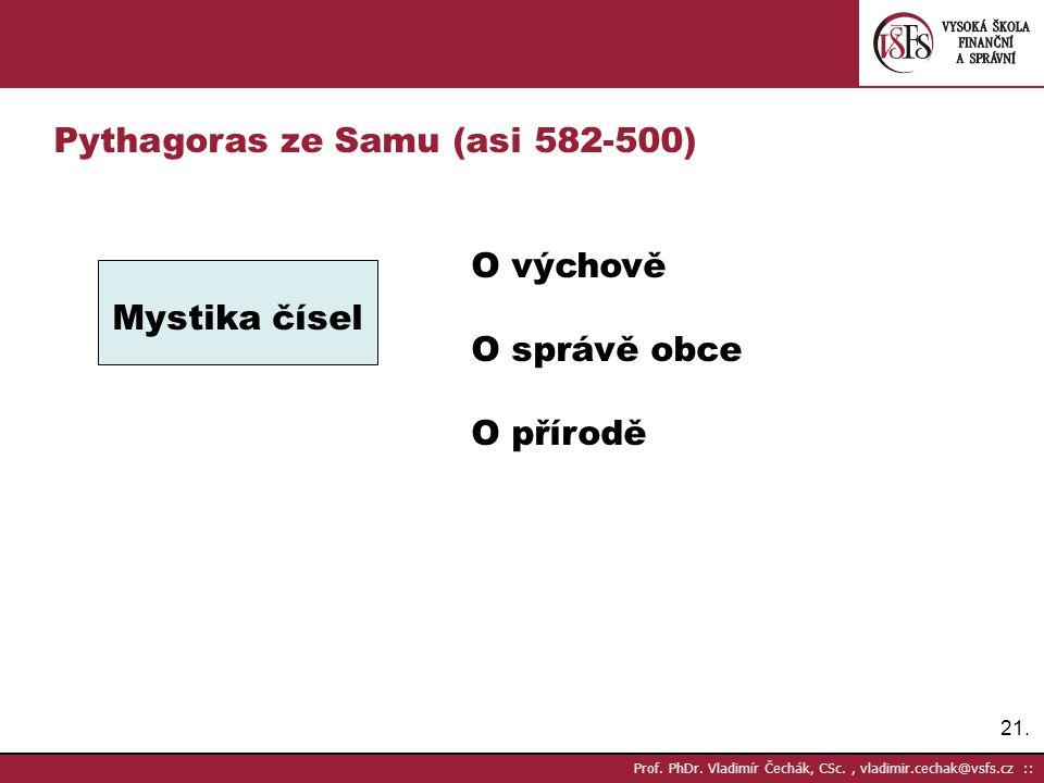 Pythagoras ze Samu (asi 582-500)