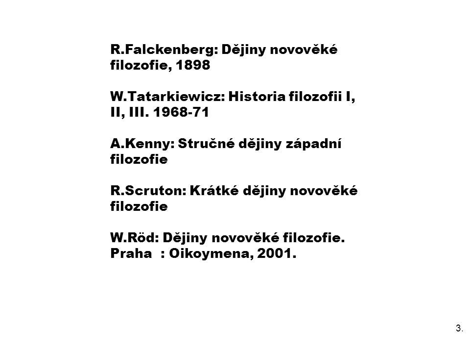 R.Falckenberg: Dějiny novověké filozofie, 1898