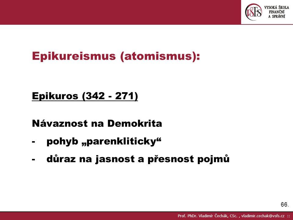Epikureismus (atomismus):
