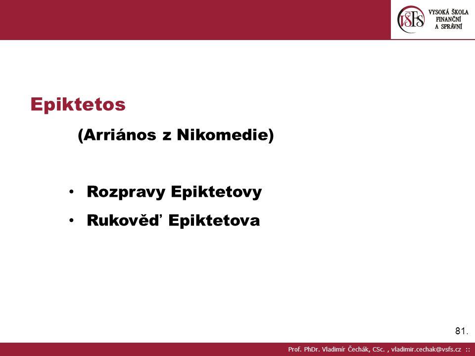 Epiktetos (Arriános z Nikomedie) Rozpravy Epiktetovy