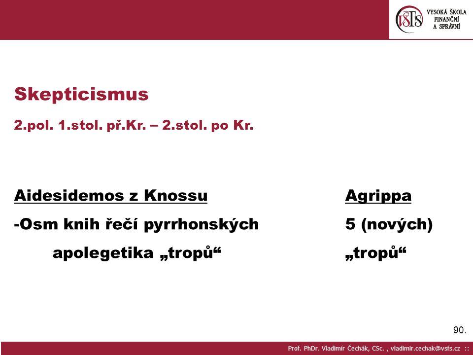 Skepticismus Aidesidemos z Knossu Agrippa