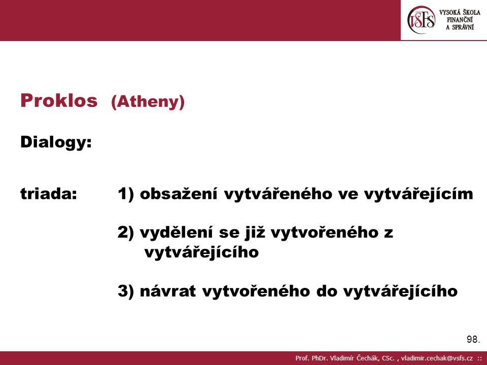 Proklos (Atheny) Dialogy: