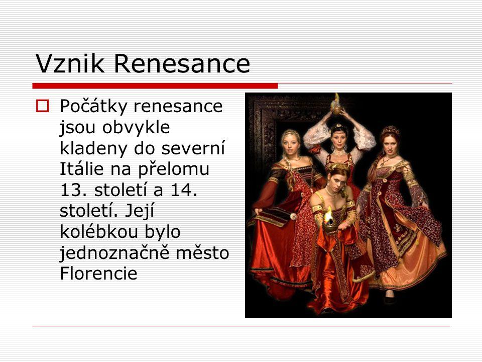 Vznik Renesance