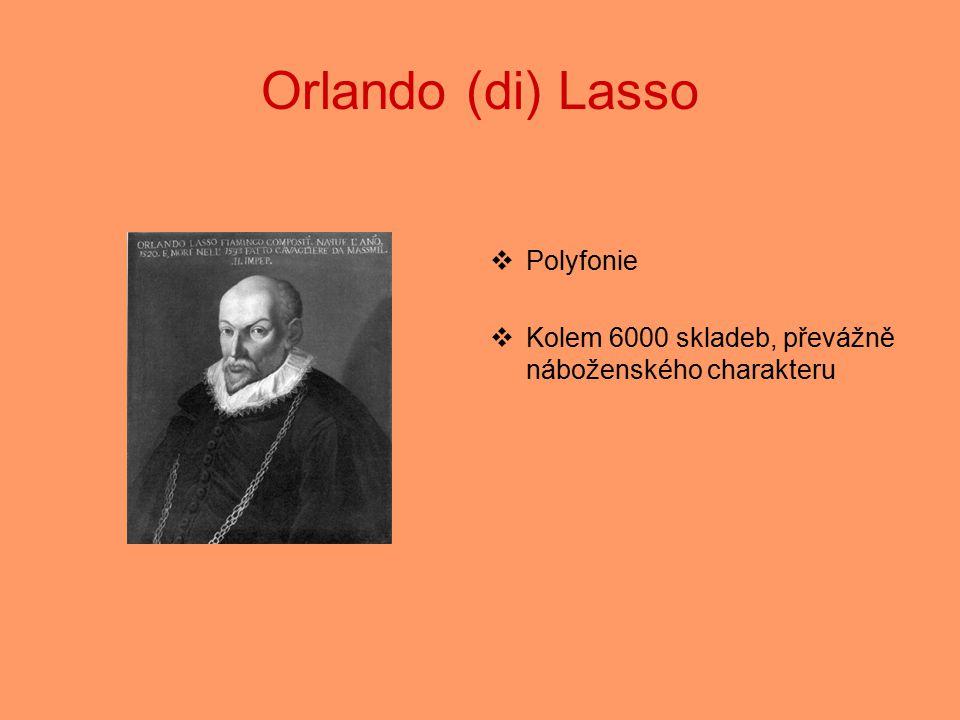 Orlando (di) Lasso Polyfonie