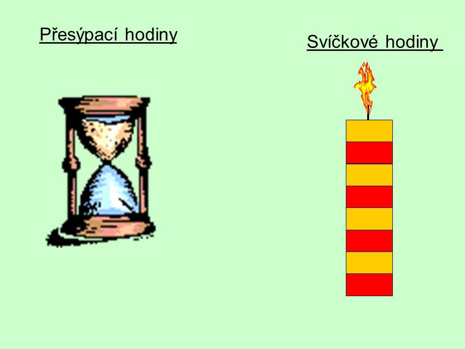 Přesýpací hodiny Svíčkové hodiny