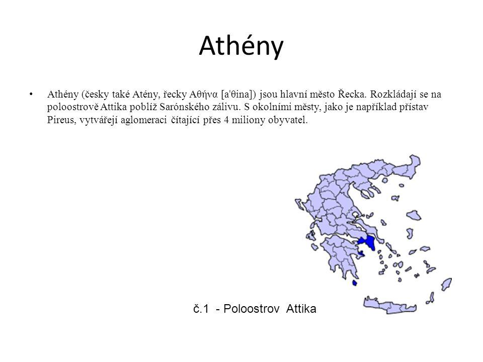 Athény č.1 - Poloostrov Attika