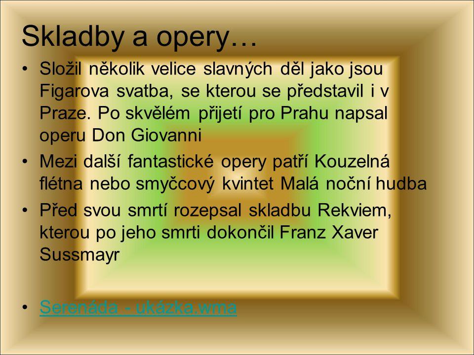 Skladby a opery…
