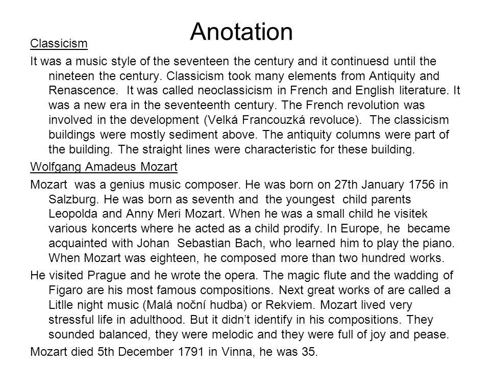 Anotation Classicism.