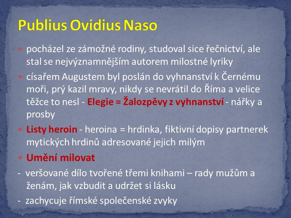 Publius Ovidius Naso Umění milovat