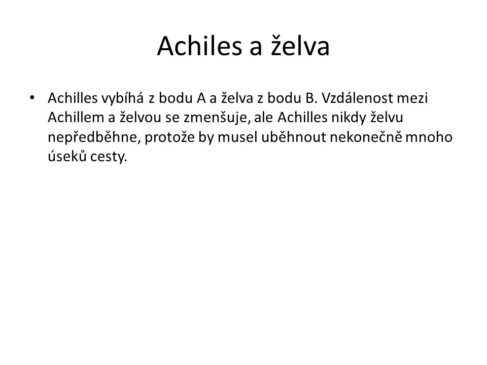 Achiles a želva