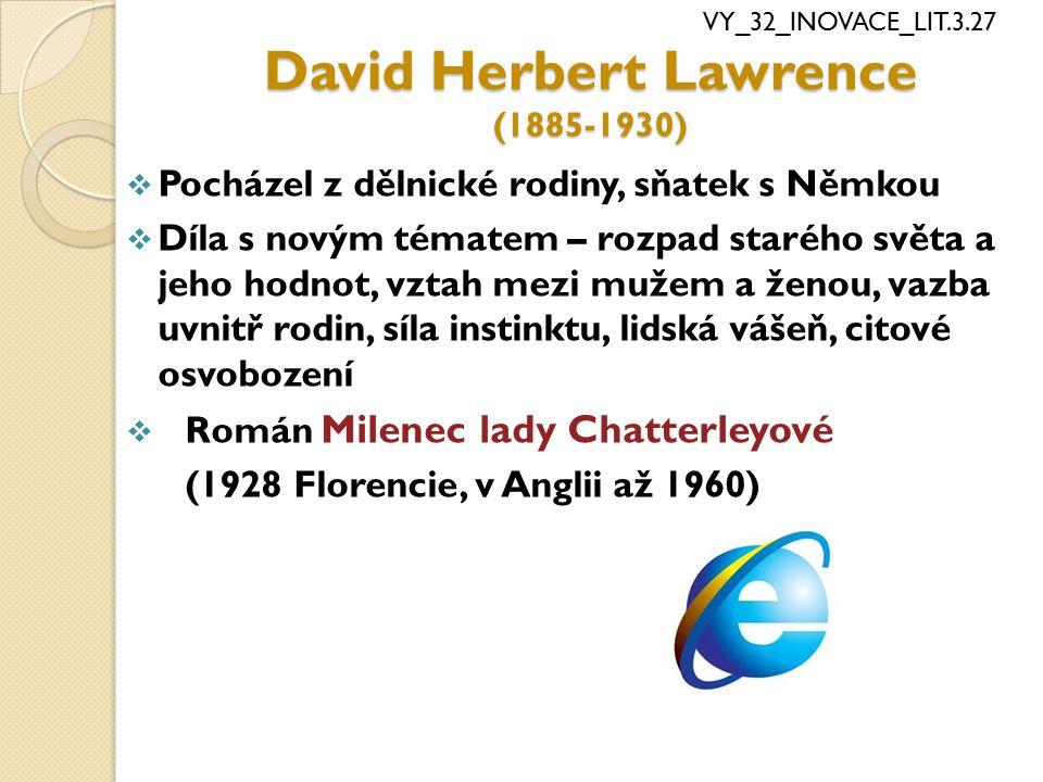 David Herbert Lawrence (1885-1930)