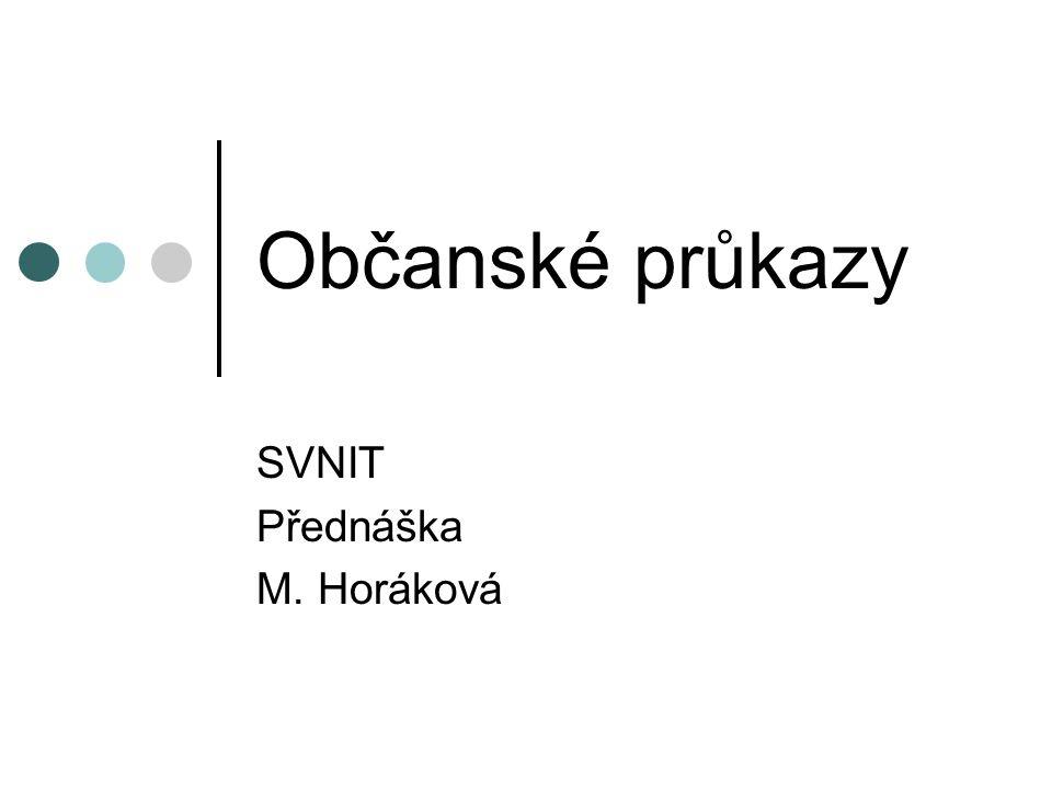 SVNIT Přednáška M. Horáková