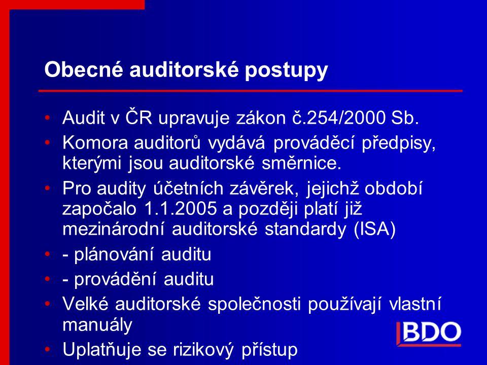 Obecné auditorské postupy