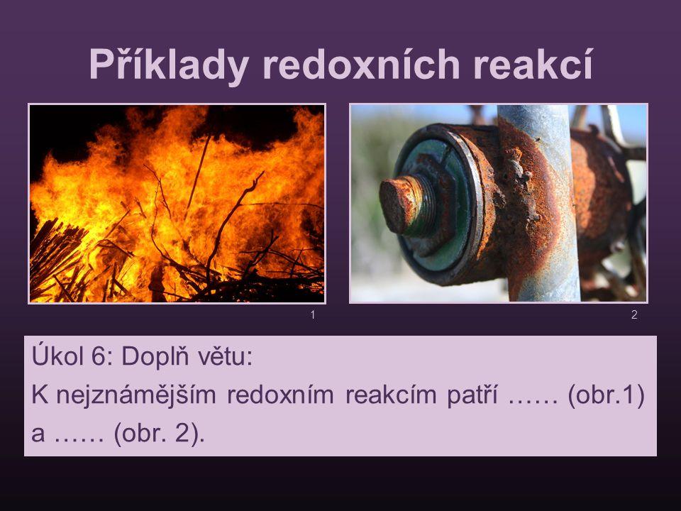 Příklady redoxních reakcí