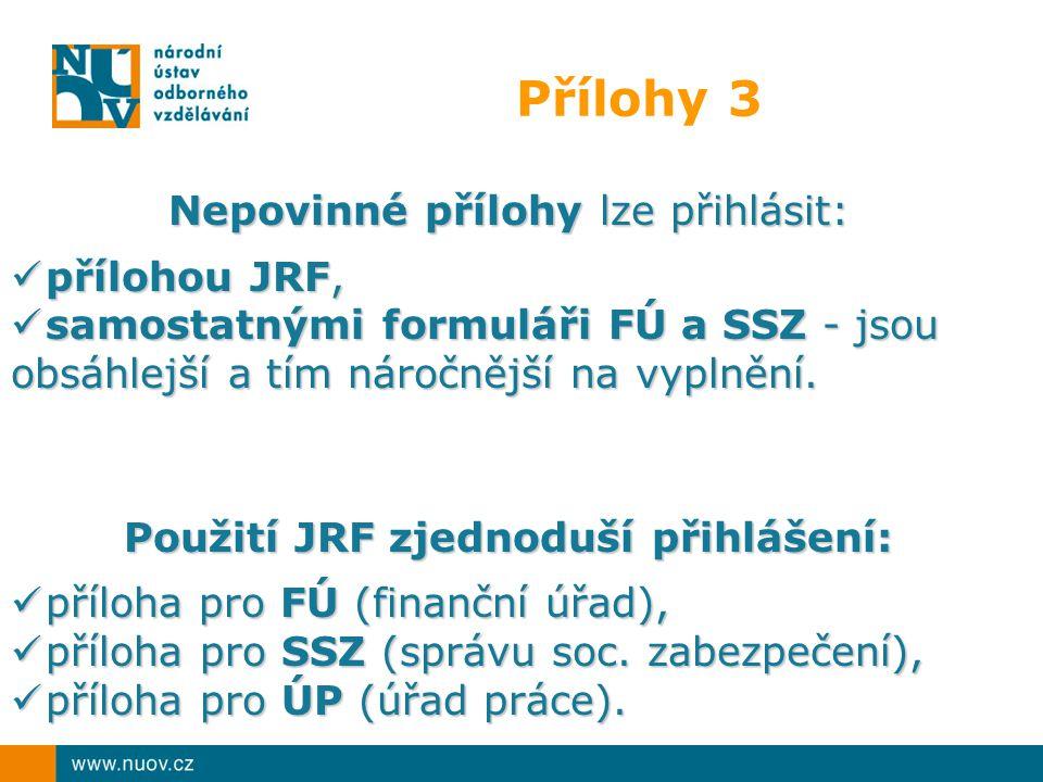Použití JRF zjednoduší přihlášení: