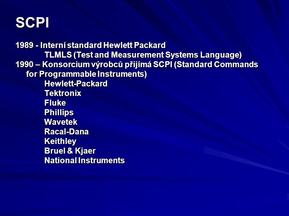 SCPI 1989 - Interní standard Hewlett Packard