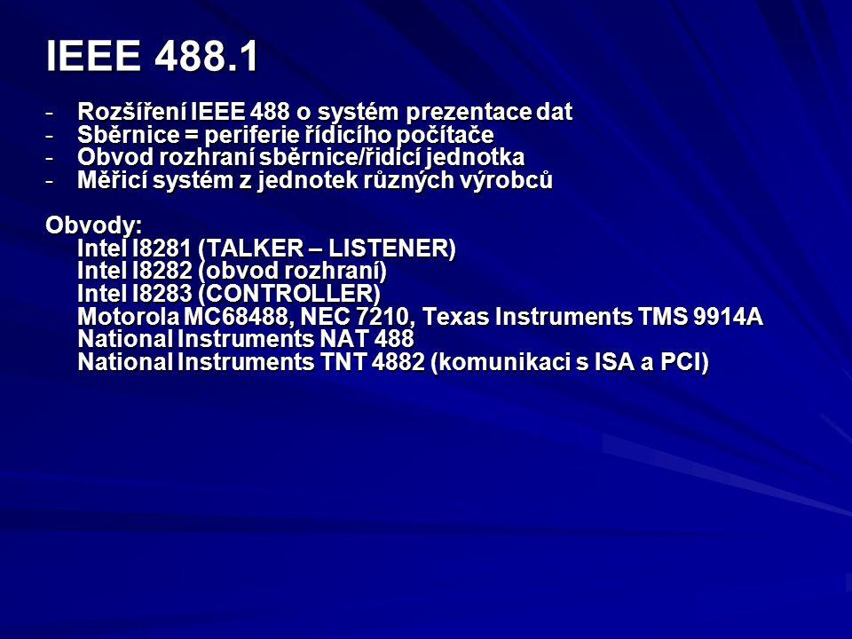IEEE 488.1 Rozšíření IEEE 488 o systém prezentace dat
