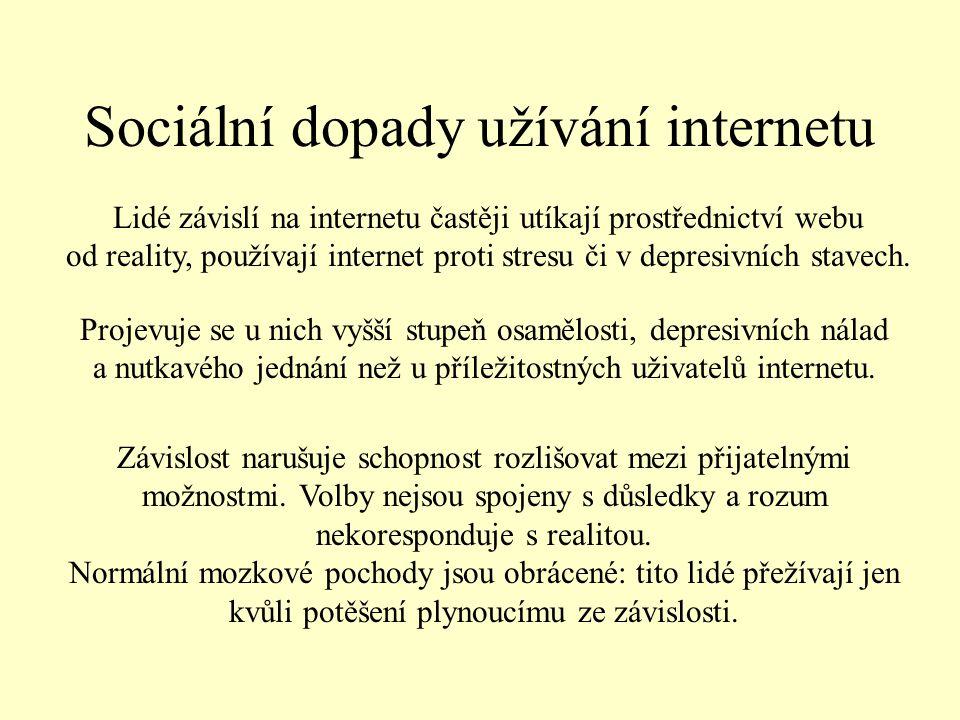 Sociální dopady užívání internetu