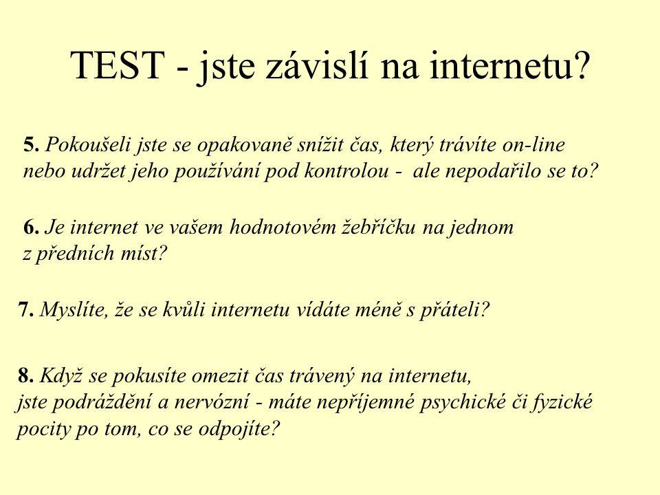 TEST - jste závislí na internetu