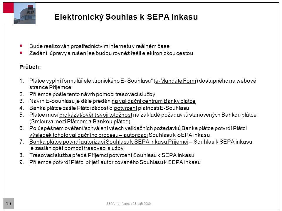 Elektronický Souhlas k SEPA inkasu