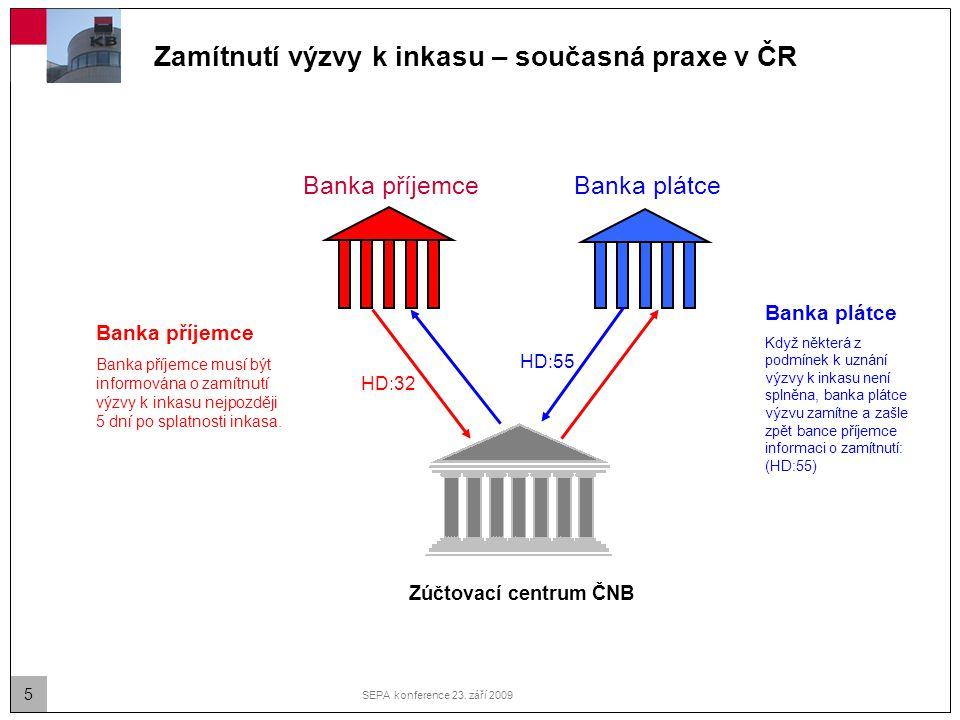Zamítnutí výzvy k inkasu – současná praxe v ČR