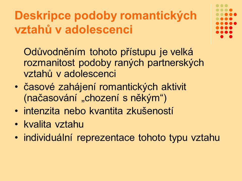 Deskripce podoby romantických vztahů v adolescenci