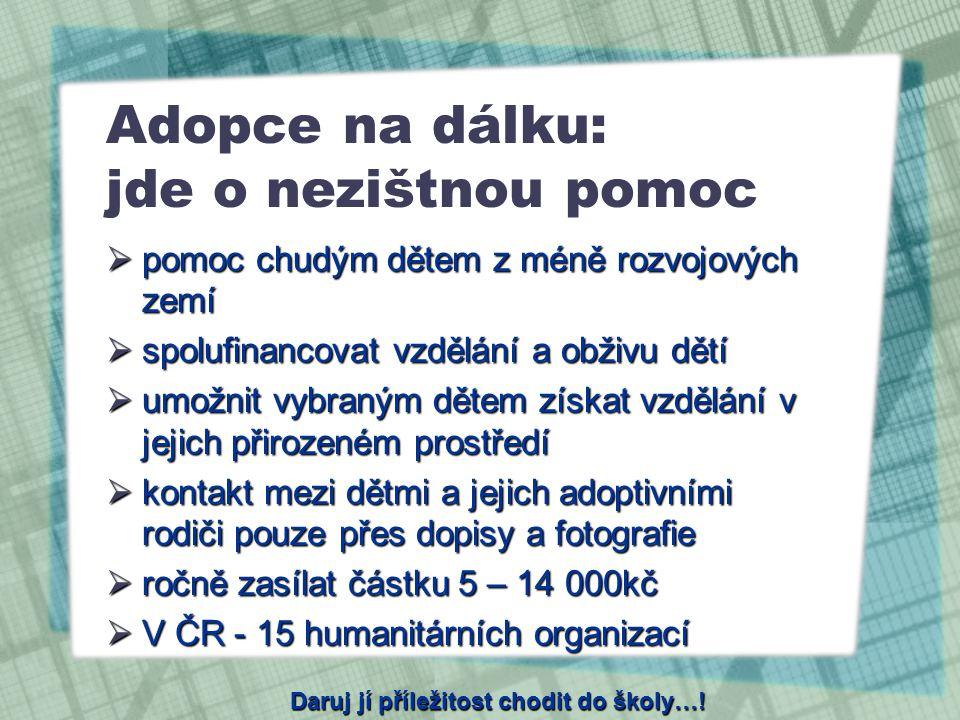Adopce na dálku: jde o nezištnou pomoc