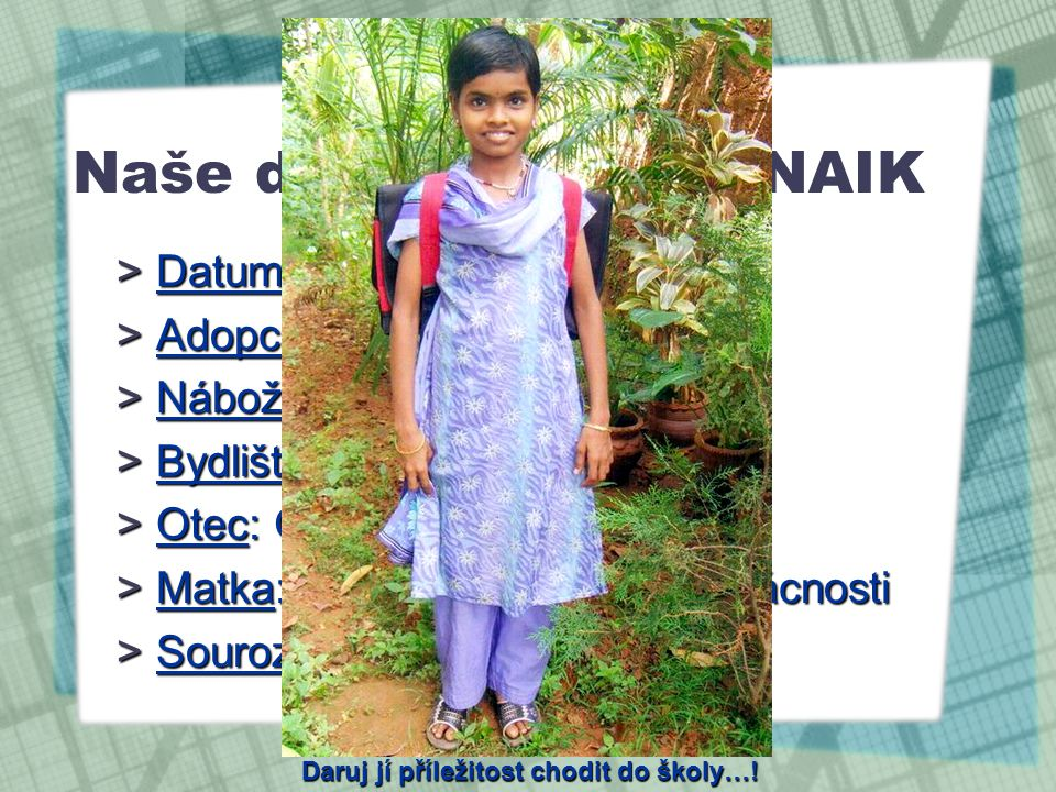 Naše dcera - SHAILA NAIK
