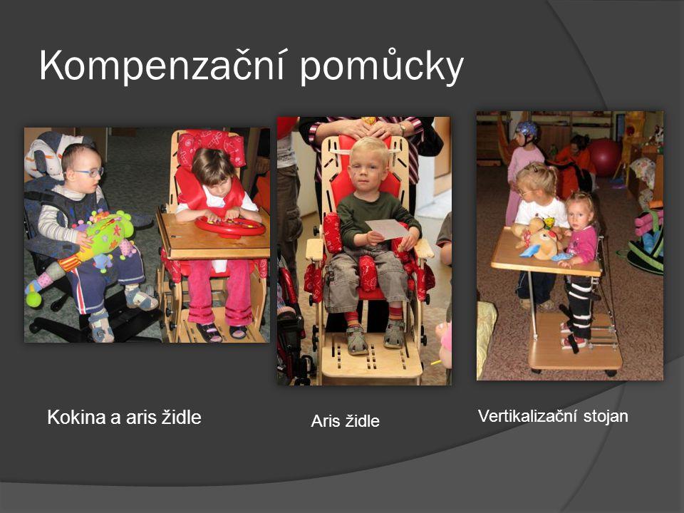 Kompenzační pomůcky Kokina a aris židle Vertikalizační stojan
